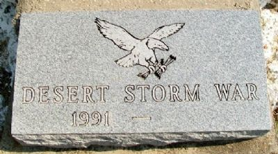 Caney War Memorial Desert Storm Marker image. Click for full size.