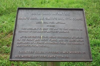 80th Ohio Infantry Marker Photo, Click for full size