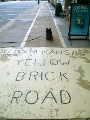 "Toto (AKA BannerB) on Sedan's ""Yellow Brick Road"" Photo, Click for full size"