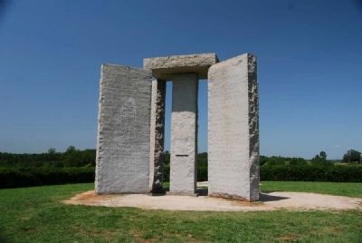 The Georgia Guidestones Photo, Click for full size