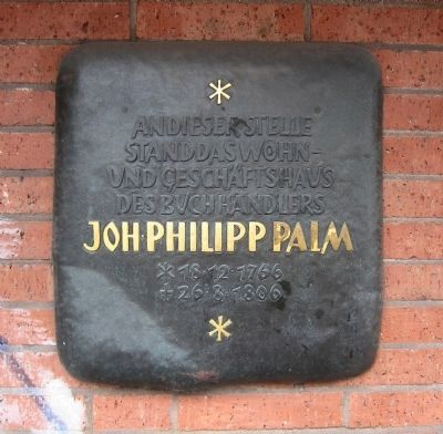 Johann Phillip Palm Marker Photo, Click for full size