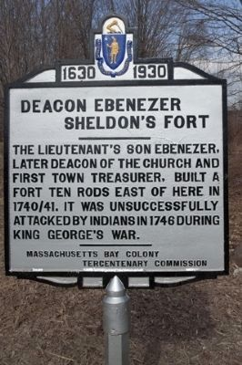 Deacon Ebenezer Sheldon's Fort , Huckle Hill Road (North) Photo, Click for full size