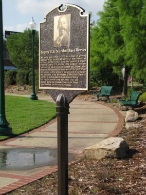 Deputy U.S. Marshal Bass Reeves Marker Photo, Click for full size