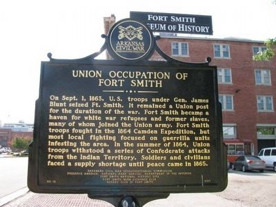 Union Occupation of Fort Smith Marker Photo, Click for full size