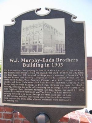 W.J. Murphy - Eads Brothers Building in 1903 Marker image. Click for full size.