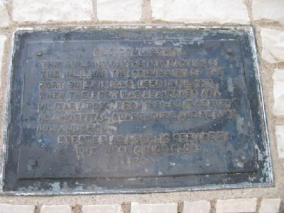 Old Commissary Marker Photo, Click for full size
