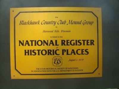 Blackhawk Country Club Mound Group Marker image. Click for full size.
