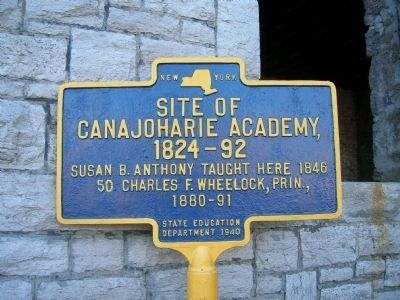 Canajoharie Academy Marker image. Click for full size.