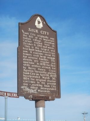 Sauk City Marker image. Click for full size.