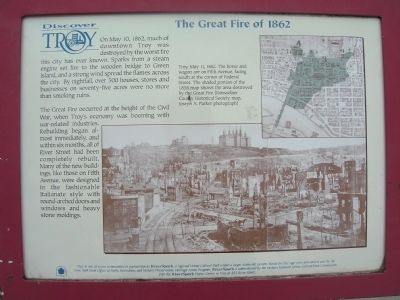 The Great Fire of 1862 Marker image. Click for full size.