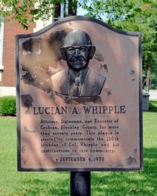 Lucian A. Whipple Marker image. Click for full size.