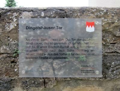 Dingolsh�user Gate Marker Photo, Click for full size