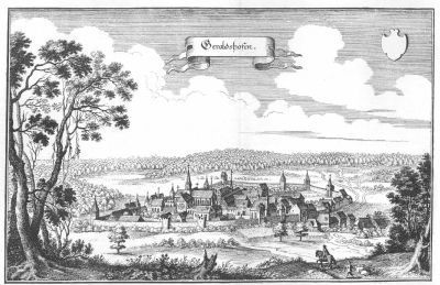 Gerolzhofen - a view from 1656 image. Click for full size.