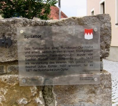 Spital Gate Marker Photo, Click for full size