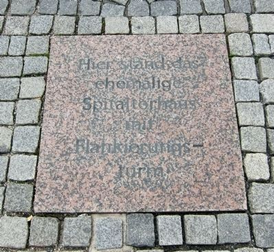 Spital Gate Marker - Paving insets Photo, Click for full size