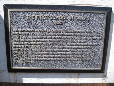 The First School in Camas Marker image. Click for full size.