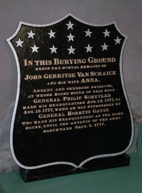 Burying Ground Marker Photo, Click for full size