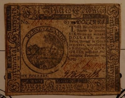 Continental Currency - Six Dollars - The United Colonies Photo, Click for full size