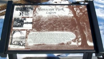 Hanscom Park Lagoon Marker Photo, Click for full size