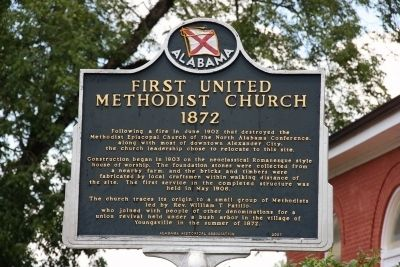 First United Methodist Church 1872 Marker Photo, Click for full size