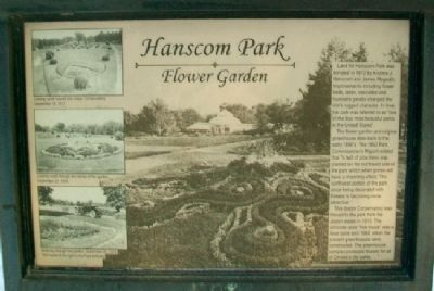Hanscom Park Flower Garden Marker Photo, Click for full size