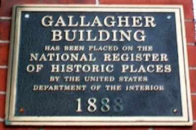 Gallagher Building NRHP Marker image. Click for full size.