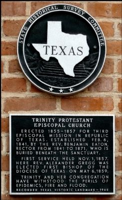 Trinity Protestant Episcopal Church Marker Photo, Click for full size
