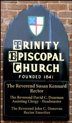 Trinity Protestant Episcopal Church Sign Photo, Click for full size