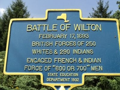 Battle of Wilton Marker image. Click for full size.