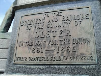 Ulster County Civil War Monument Marker Photo, Click for full size
