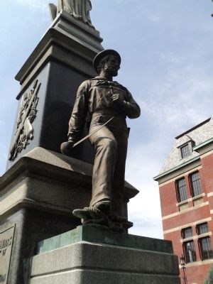 Sailor on Monument Photo, Click for full size