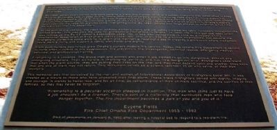 Omaha Firefighters Memorial Marker image. Click for full size.