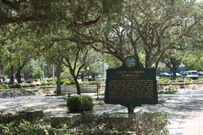 East Florida Seminary Marker, at Municipal Bldg., southside plaza Photo, Click for full size