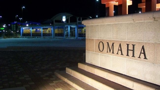 Site of Union Pacific's Omaha Shops Marker image. Click for full size.