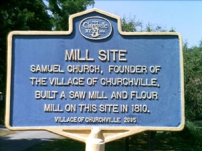 Mill Site Marker image. Click for full size.