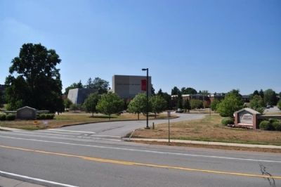 Roberts Wesleyan College as seen from marker site image. Click for full size.