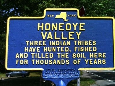 Honeoye Valley Marker image. Click for full size.