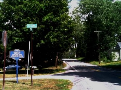 Honeoye Valley Marker as seen facing east on Rush-West Rush Rd. image. Click for full size.