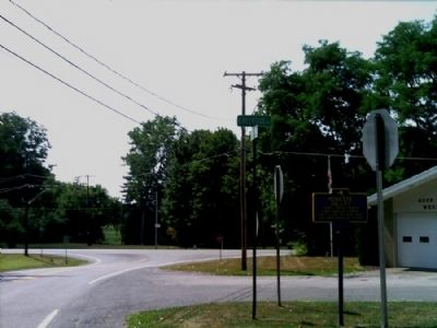 Honeoye Valley Marker as seen facing west on Rush-West Rush Rd. image. Click for full size.