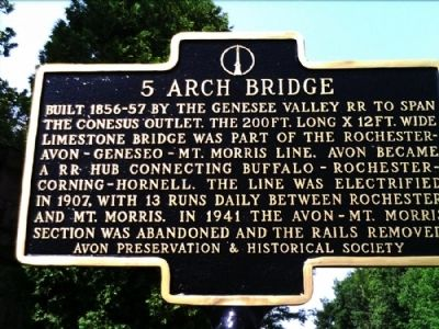 5 Arch Bridge Marker Photo, Click for full size