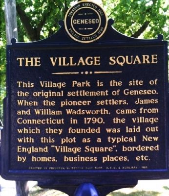 Village Square Marker Photo, Click for full size