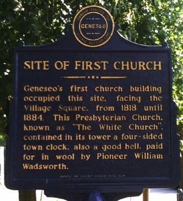 Site of First Church Marker image. Click for full size.