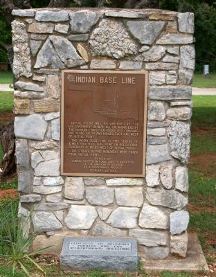 Indian Base Line Monument image. Click for full size.