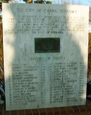 The City of Omaha, Nebraska Marker Photo, Click for full size