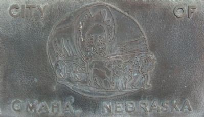 The City of Omaha NE Artwork on Marker Photo, Click for full size