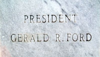 President Gerald R. Ford Marker Photo, Click for full size