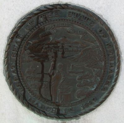Great Seal of the State of Nebraska on Marker Photo, Click for full size