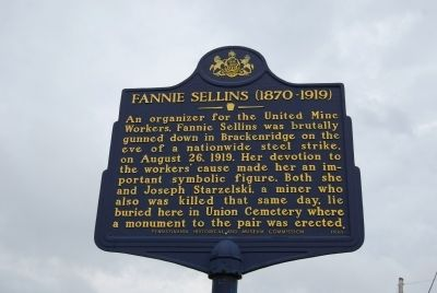 Fannie Sellins Marker image. Click for full size.