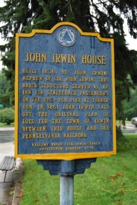 John Irwin House Marker Photo, Click for full size