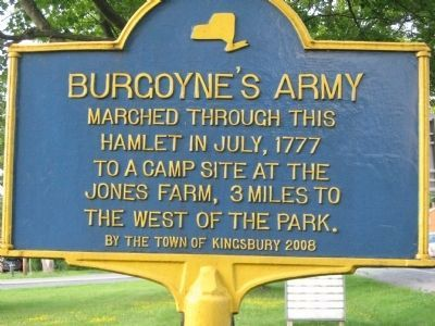 Burgoyne's Army Marker Photo, Click for full size